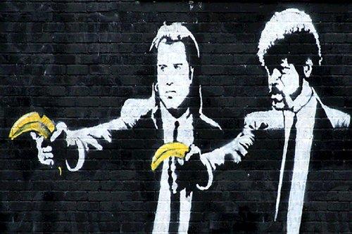 LAMINATED Banksy Reproduction Fiction Banana product image
