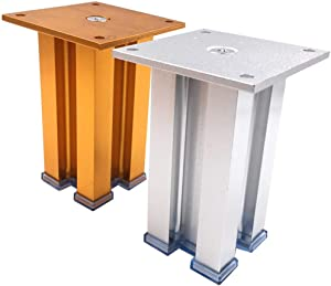 Wghz Metal Furniture Legs Times; 4, Thicking Chrome Sofa Support Feet, DIY Countertop Cabinet Tv Cabinet Bed Feet