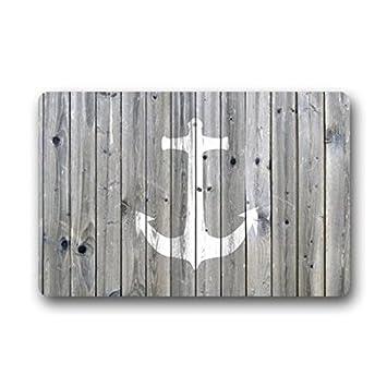 Amazon Com Goodbath Nautical Anchor Bath Rugs And Mats Non Slip