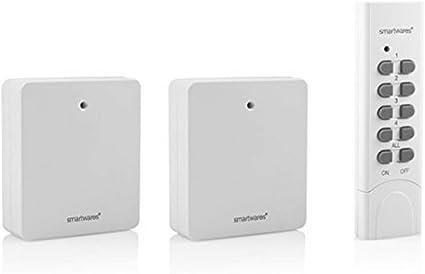 SmartHome Funk steckdosenset avec Télécommande pour luminaires /& APPAREILS jusqu/'à 3000 W