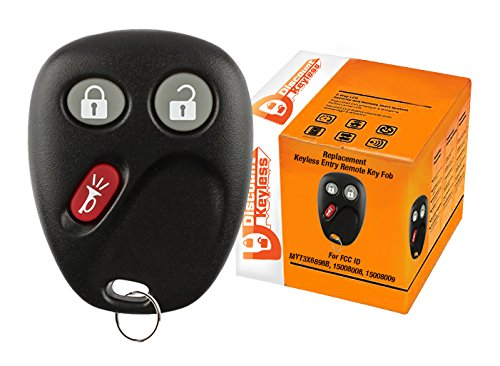 Discount Keyless Replacement Key Fob Car Entry Remote For Chevy Trailblazer GMC Envoy 15008008, 15008009 ()