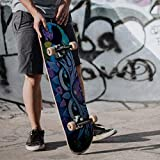 Gbell Thickened Sun Protection and Waterproof Skateboard Stickers for Boys Girls,1 Pcs 85×22CM Motorcycle Bicycle Luggage Decal Graffiti Patches Stickers for Laptop Stickers for Kids Adults (I)
