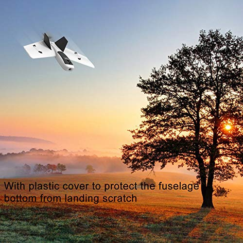 Hisoul ZOHD Dart Sweepforward Delta Wing Glider FPV EPP Racing Wing RC Airplane PNP (White)