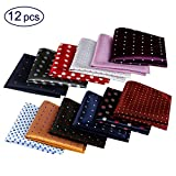 Mens Pocket Squares Handkerchief Assorted Cotton Polka Dots for Wedding Party Gift (Style 1)