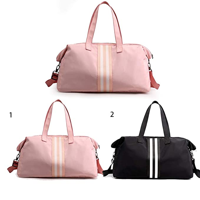 COAFIT Luggage Handbag Stripe Shoulder Strap Travel Bag Luggage Duffel Bag for Ladies