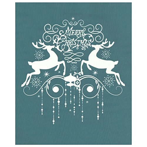 DIY Silk Screen Printing Stencil, Ready To Use Merry Christmas with Reindeer Design, for Fabric, Wood, Ceramic, T-Shirts, and more!