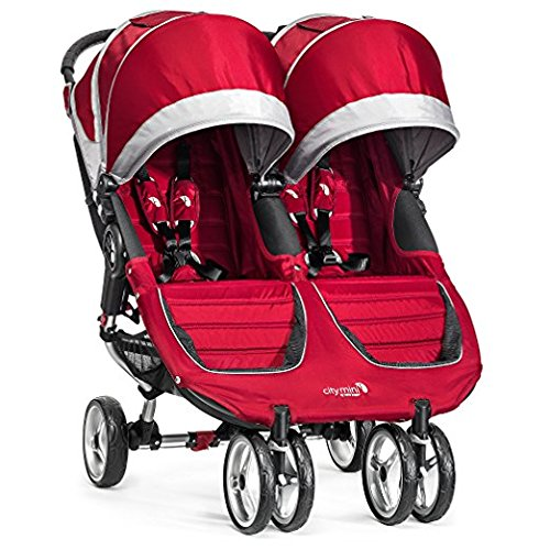 Baby Jogger 2017 City Mini Double (Crimson/Gray)