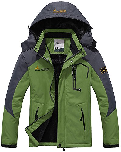 Ski Green Outdoor Windbreaker Fishing Mountain Jacket Sportwear Hunting Hooded Men's Snow Waterproof Camping Grass Jacket Rain Working Coat Fleece Mochoose 4HAYwqc