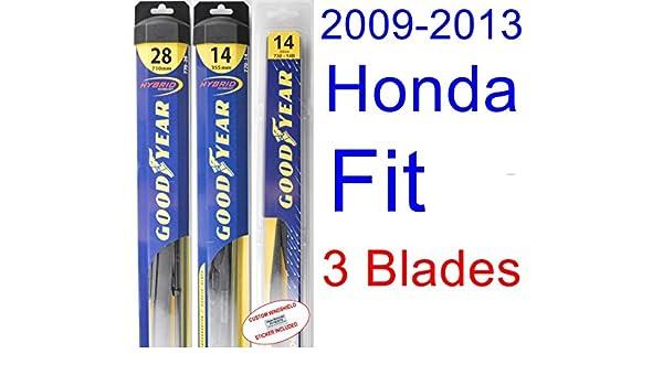 2009 - 2013 Honda Fit Hoja de Limpiaparabrisas de repuesto Set/Kit (Goodyear limpiaparabrisas blades-hybrid) (2010): Amazon.es: Coche y moto