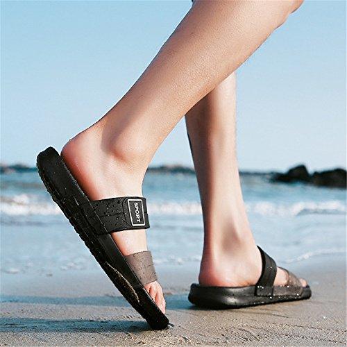 42 Da EU Tempo Il Per Scarpe Pantofole Wagsiyi Pantofola Spiaggia Dimensione Estivo Nero Libero pantofole Colore Traspirante Uomo spiaggia Da da Pantofola Nero IA1AfqxR