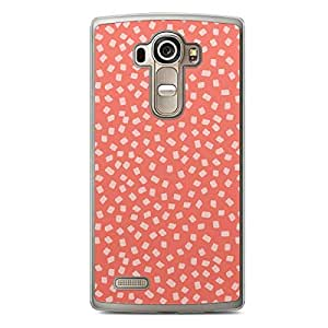 Confetti LG G4 Transparent Edge Case - Soft Red