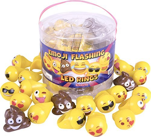 Emoji Universe: Emoji LED Rings, 24 Pack -