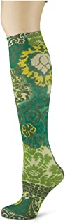 product image for Sox Trot OLIVE DAMASK - Printed Nylon Knee-Hi's