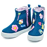 20% OFF Peppa Pig Kids Girls Hi Top Canvas Boots With Patches