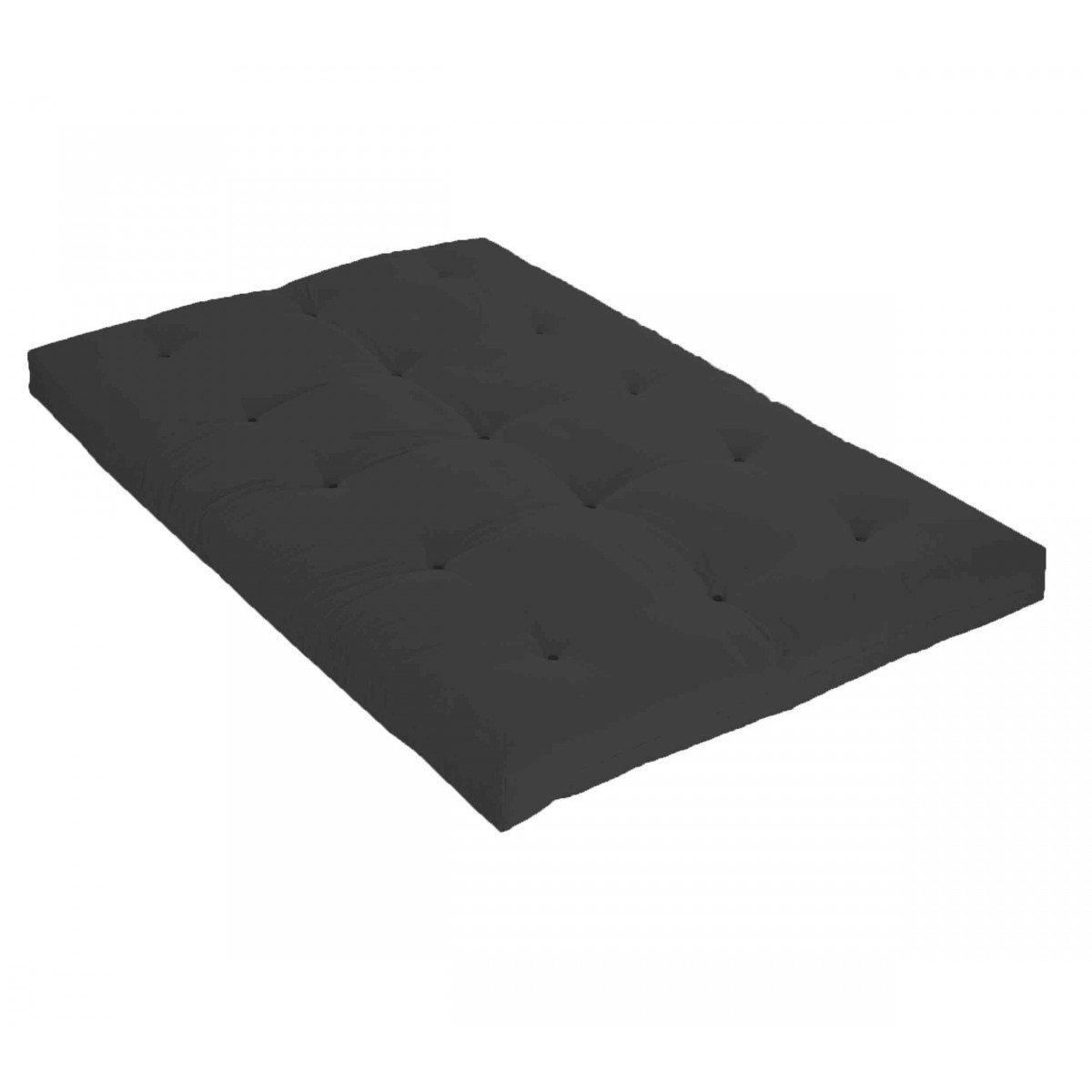 Matelas futon gris anthracite en coton 90x190 - Terre de Nuit
