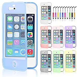LCJ Screen Touch TPU Case & Touch Pen for iPhone 5/5S (Assorted Colors) , Black