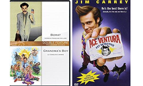 lection - Ace Ventura, Borat & Grandma's Boy 3-Movie Bundle ()