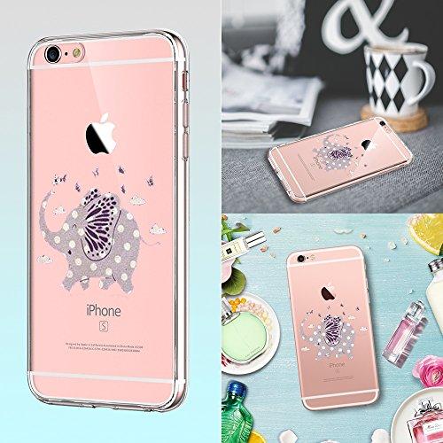 Qissy® (No para iPhone 6 plus/6s plus ) iPhone 6S Carcasa,iPhone 6 Case, TPU Silicone Fruit temptation La tentación de la fruta Case Cover for 4.7 inch iPhone 6 / 6S 3
