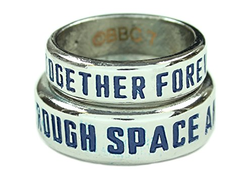 [Doctor Who TARDIS His & Hers Ring Set (Size 7 and 10)] (David Tennant Who Costume)