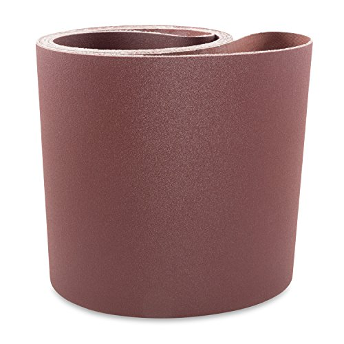 6 X 108 Inch 80 Grit Aluminum Oxide Multipurpose Sanding Belts, 2 Pack by Red Label Abrasives