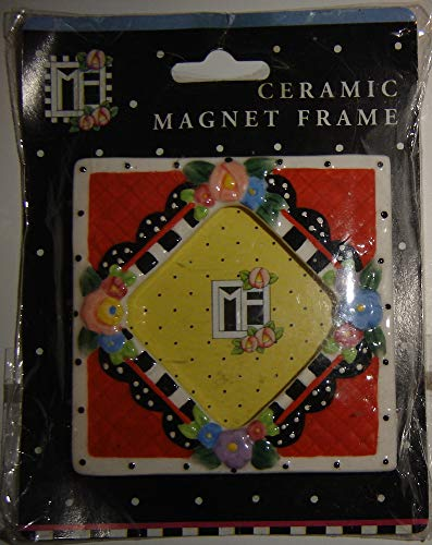 Mary Engelbreit Ceramic Magnet Picture Frame With Flowers