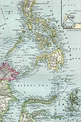 Amazon.com: Travel Journal: Philippine Islands Cartography ...