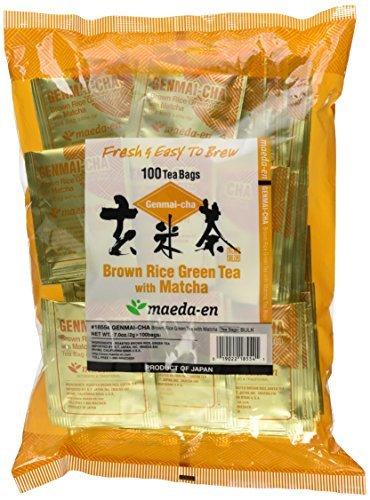 Maeda En Genmai-Cha With Matcha Tea Bags, Roasted Rice, 100 Count by MAEDA-EN