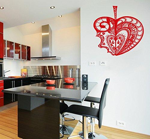 Kitchen an Apple Flower Template Fruit Kids Room Children Stylish Wall Art Sticker Decal G9374