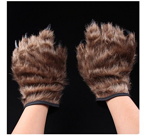 Primerry Halloween Decorations Props Tricky Realistic Bears Paw Gloves