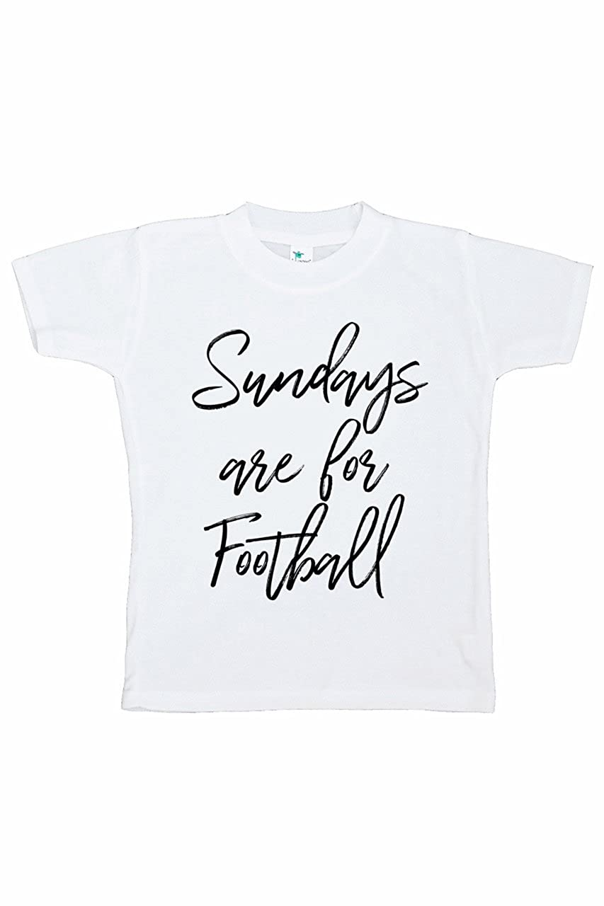 7 ate 9 Apparel Funny Kids Football Sunday T-Shirt