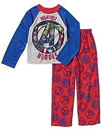 Boys Marvel Mightiest Avengers Pajamas-- Poly Shirt, Fleece Pants