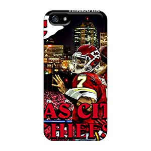 RitaSokul Iphone 5/5s Durable Cell-phone Hard Covers Allow Personal Design Beautiful Kansas City Chiefs Image [AUj9046NhRK]