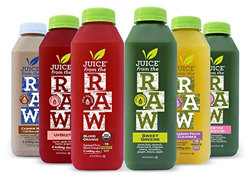 Juice from the RAW 3 Day Whenever Cleanse with Cashew Coffee Milk and Probiotics