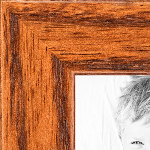 - ArtToFrames 24x36 inch Honey on Red Oak Wood Picture Frame, WOM0066-1343-YHNY-24x36