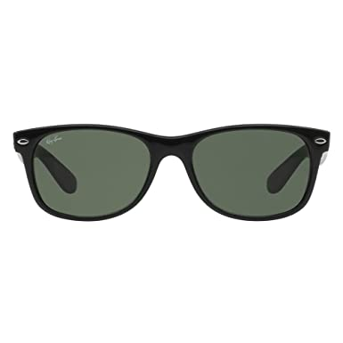 Amazon.com: Ray-Ban New Wayfarer 55 mm Negro y Gris anteojos ...