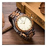 Mens Wooden Watches Classy Watch Solid Wood Gift for Men Relogio Masculino
