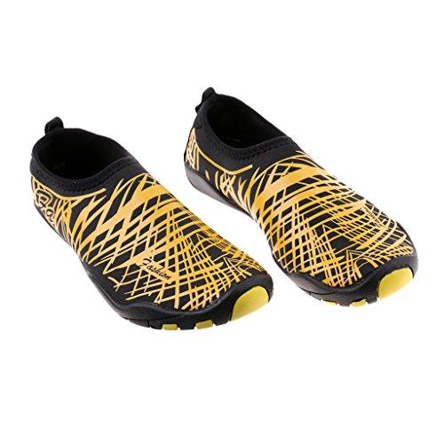 FITYLE Zapatos de Agua Multiusos de Caucho Buena para Deportes Ciclismo Yoga Súper Liviana Flexible Accesorios Amarillo