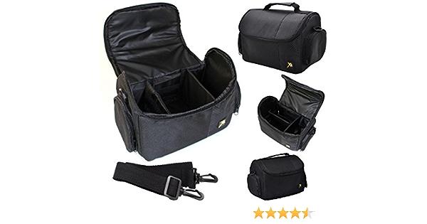 Black Shoulder Bag Case For Sony FDR-AX33 AX53 4K w// Adjustable Interior