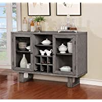 Jadyn Gray Solid Wood Server by Furniture of America