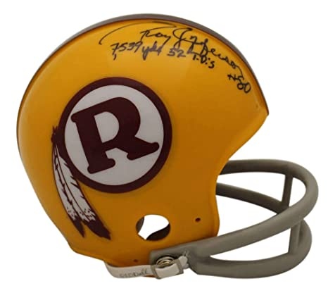 Amazon.com  Roy Jefferson Autographed Signed Washington Redskins 2Bar Mini  Helmet JSA  Sports Collectibles 5fba8ee34