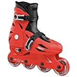 Roces 400687 Model Orlando III Kids Inline Skate, US 13jr-3, Red