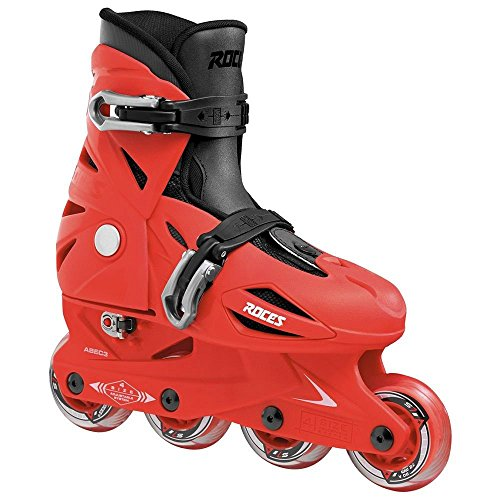 Roces 400687 Model Orlando III Kids Inline Skate, US 9-12jr, Red