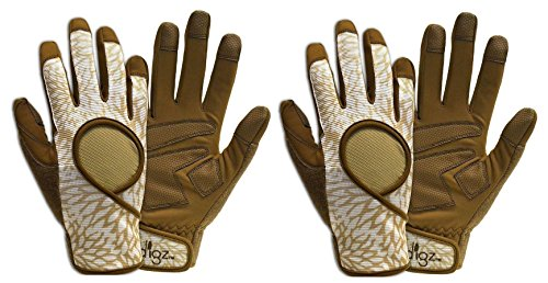 Set of 2 Digz High Performance Womens Garden Gloves! Heavy Duty Digz Gloves in Signature Brown! (Large, 2 Pack)