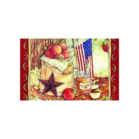 Patriotic American Apple Outdoor Decoration Door Mat 18