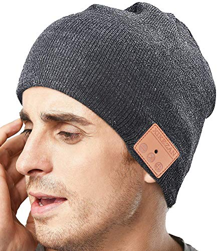 - Upgraded Unisex Knit Bluetooth Beanie Winter Music Hat Headphones V4.2 w/Built-in Stereo Speaker Unique Christmas Tech Gag Gifts for Boyfriend/Him/Men/Teen Boys/Stocking Stuffers Best Friend Birthday