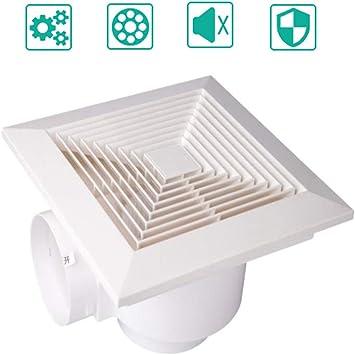Extractor de baño silencioso de techo,Campana extractora de bajo ruido campana extractora cocina/baño,Extractor de diseño ultra silencioso,White: Amazon.es: Bricolaje y herramientas