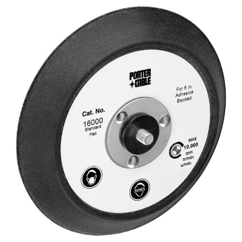 - PORTER-CABLE 16000 6 In Standard Pad for 7336 and 97366 Random Orbit Sander