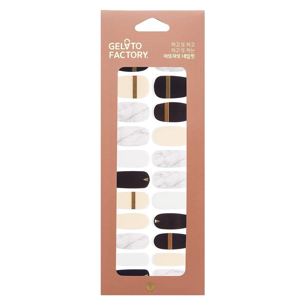 Gel Nail Strip by Gelato Factory - Ultra Shine 10 Minute Nail No Glue No Soak Off (Classic Gold)