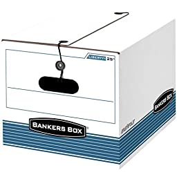 Bankers Box Liberty Medium-Duty Storage Boxes, Letter/Legal, 12 Pack (00025)