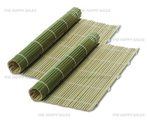 Happy Sales Bamboo Sushi Mats Green - 2 pc